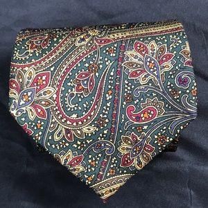 Men's Coach paisley tie